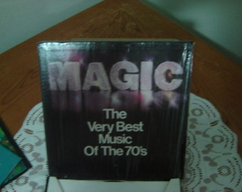 MAGIC The Very Best Music Of The 70's 6 33 1/3 LP Records In Box Set