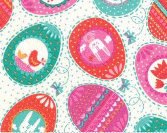 Sale!!- Eggs Eggs Eggs in Multi- Spring Bunny Fun - By Stacy Iest Hsu for Moda