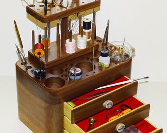 Fly Tying Tool Caddy, Fly Tying Bench, Fly Tying Station, Fly Tying Desk, Fly Tying, Fly Fishing