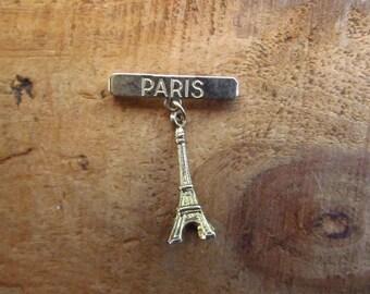 Vintage France Souvenir - Paris Souvenir Charm Pin - Eiffel Tower Charm Brooch