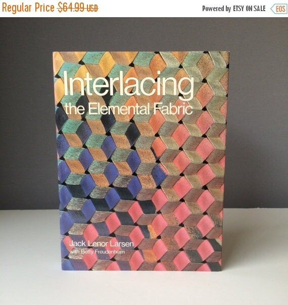 ON SALE Interlacing: The Elemental Fabric, Collectible Book, by Jack Lenor Larsen