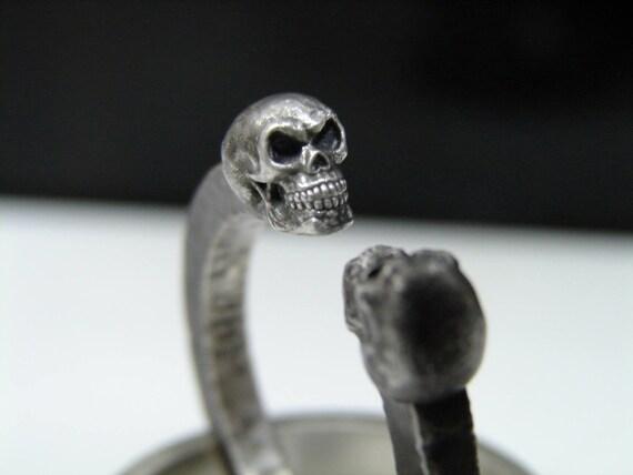 Old school skull biker rings. Evil twins. Biker rings Harley Davisdon style.