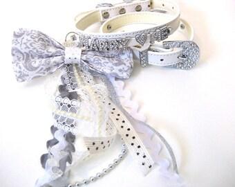 Marry Me Dog collar   Proposal dog collar   Bow Dog Collar   Wedding Proposal   XS S M L   Bling Dog Collar