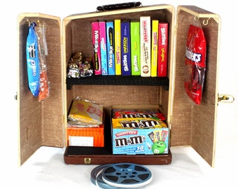 Vintage Popcorn and Candy Storage Cabinet - Home Theater Decor - 1950 Keystone 8mm Projector Case