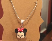 Tiny Minnie Mouse Tsum Tsum Necklace
