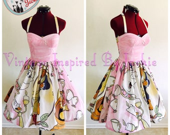 Beauty And the Beast Swing Dress