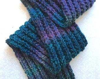 Knit Scarf in Caribbean Blues Medley