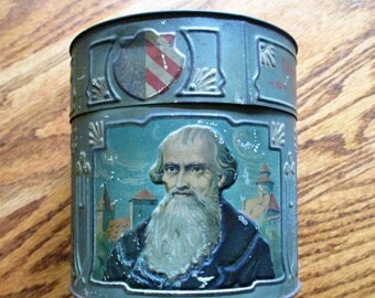 Heinrich Haeberlein Nurnberg Early 1900s Chocolade Embossed Tin