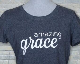 Christian shirt, amazing grace shirt, ladies' shirt, cute Christian shirt, Christian tshirt, amazing grace, Christian shirts, grace shirt