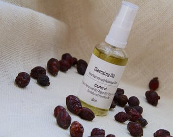 Natural Face Cleansing Oil. Non-Comedogenic Oils. Organic Face Cleansing Oil. Rosehip seed Infused Botanical oils