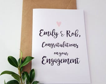 Congratulations on your Engagement card / Personalised Engagement Card