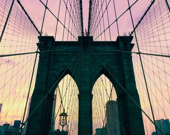 NYC - The Brooklyn Bridge -  New York City - Brooklyn - Sunset