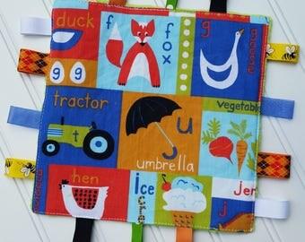 Baby Crinkle Toy | Sensory Toy | Tag Blanket | Organic