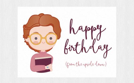 Stranger Things Happy birthday card Barbara printable card – Birthday Card Pdf