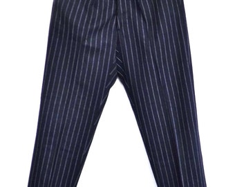 Wool pinstripe trousers vintage made in Italy size S-M, 1960s