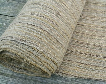 hand woven natural dyed cotton fabric by the meter (H28)