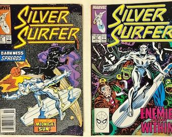 Vintage Comic Books (2) - Silver Surfer - 1989