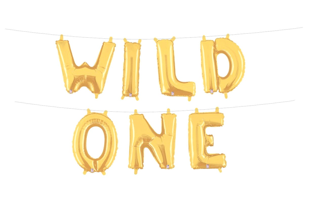Wild e Letter Balloons Where the Wild Things Are Birthday