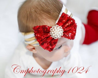 Valentine Headband/Baby Headband/Baby Headbands and Bow/Infant Headband/Baby Girl Headband/Girl Headband /Toddler Headband/Photo Prop Baby