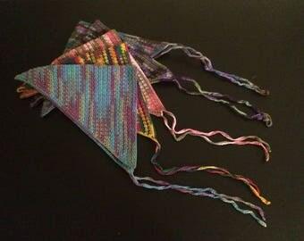 Hand Crochet Head/Hair Kerchief (Adult Women's Size In 9 Multi-Colors)