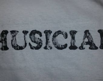 "Black or White ""Musician"" T-shirt (Glow-in-the-dark)"