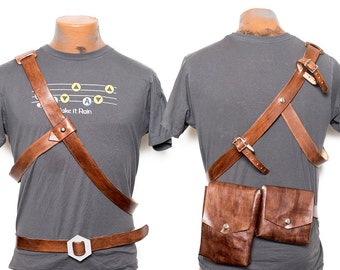 Skyward Sword Link Belt and Baldric to hold Sword/Scabard with Belt Pouches and Gloves