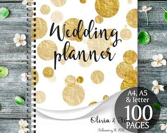 Gold wedding planner, DIY wedding binder, Gold wedding binder, Wedding checklist, Printable wedding planner, Wedding to do list, DIY planner