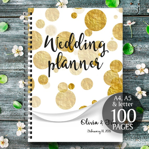 Gold wedding planner, DIY wedding binder, Gold wedding binder, Wedding checklist, Printable wedding planner, Wedding to do list, DIY planner