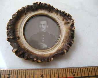 Antler Rosette Photo Frame(real antler)