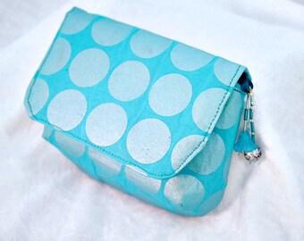 Teal Bag, Aqua Bag, Camera Bag, Jewellery Bag, Medication Bag, Cosmetics Bag, Makeup Bag, Pouch, Jewelry Bag, Swarovski Crystals - SM