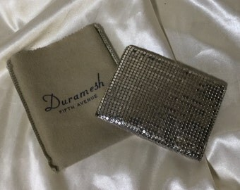 Duramesh Fifth Avenue Silver Mesh Wallet