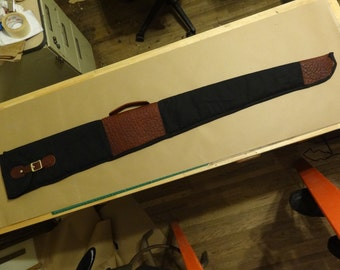 Canvas and Leather Shotgun Slip Case