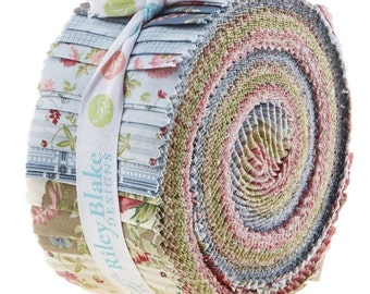 """Penny Rose Amelia Rolie Polie 2.5"""" - 40 strips - Fabric Quilting Strips Jelly Roll Riley Blake"""
