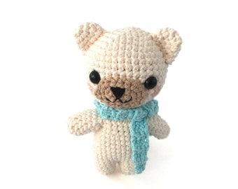 Crochet Pattern for Amigurumi Polar Teddy Bear Adorable Kawaii Stuffed Animal Toy DIY Bear Patterns