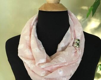 Pink sheer scarf