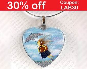 Practically Perfect In Every Way Pendant, Mary Poppins Inspired Jewelry, Mary Poppins Inspired Necklace, Birthday, Gift, Heart