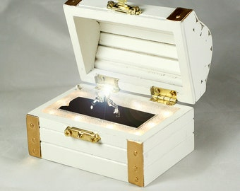 Treasure Chest Ring Box - Lights and Music