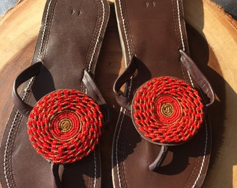 Beaded Sandals...Size 12 women's