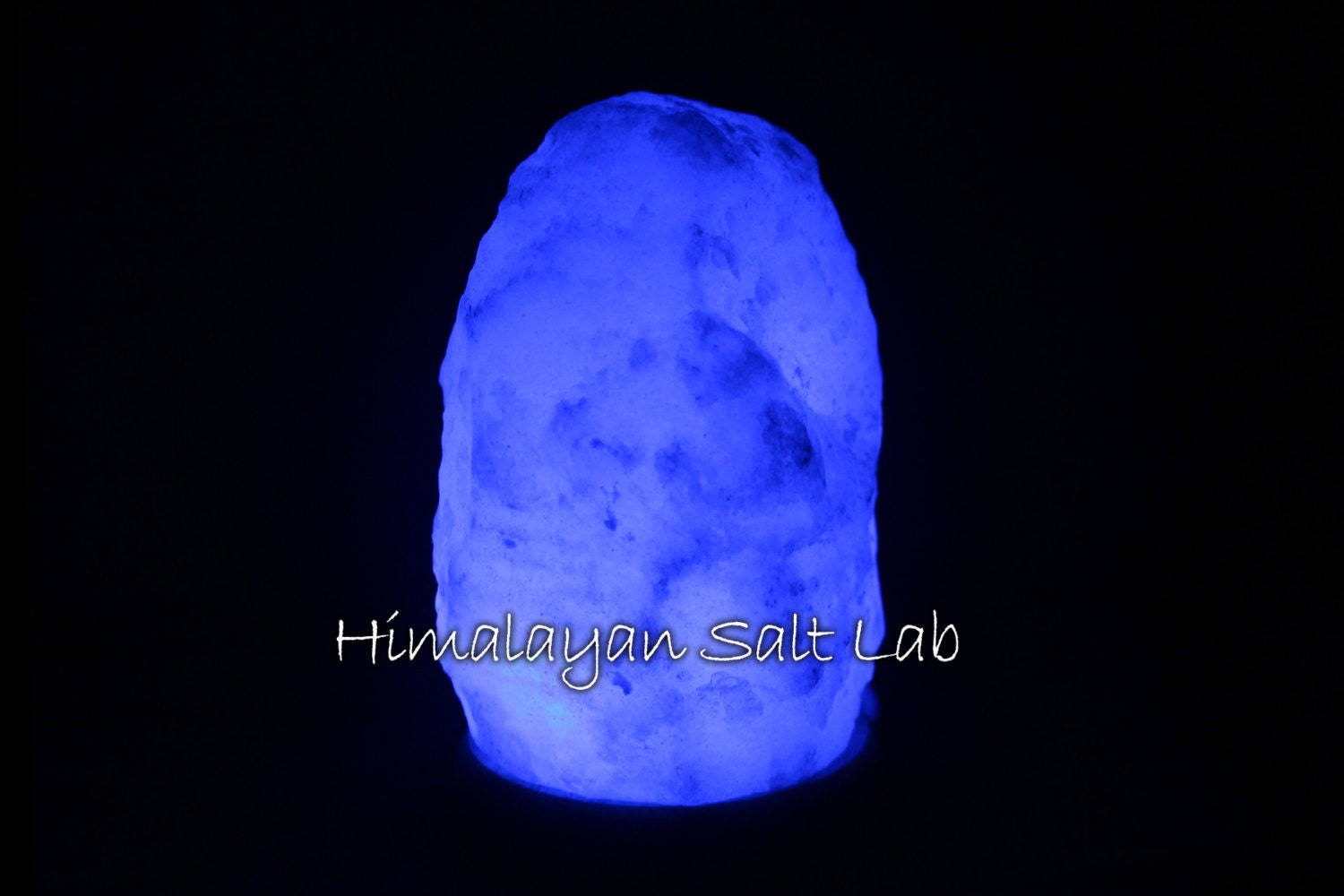 Salt Lamps Blue : Natural Glacier Crystal blue LED Himalayan salt lamp
