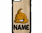 Poo poop emoji funny gift cartoon face graphic personalised name cover for iphone 4 4s 5 5s 5c 6 6s 7 plus SE phone case