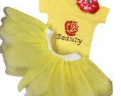 Baby Beauty Tutu and Babygrow Set Headband Fancy Dress Fairytale Princess
