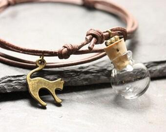 Wish ball cat bracelet - individual fillable