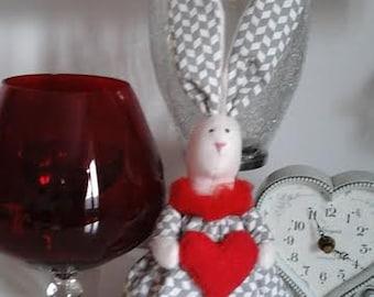 Vintage style interior bunny rabbit