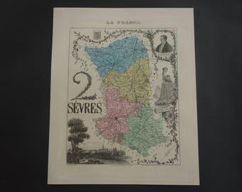 Antique niort map Etsy