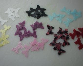 50 Small Butterfly Cake Toppers, Various Colours Available, Edible