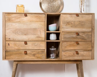 Buffet design copper wood