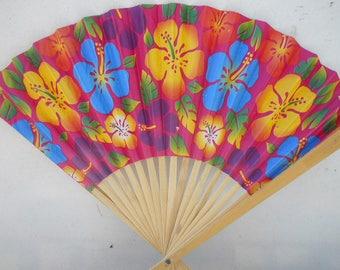Floral Flowers Brilliant  Colored Folding Hand Fan #Fan177