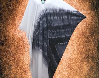 Minimalist Wearable Art V neck Kaftan dress Hand Dyed Casual Caftan