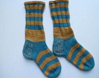 Hand knit wool socks  Warm socks