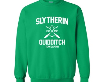 Harry Potter Sweatshirt Slytherin Sweatshirt Harry Potter Slytherin Quidditch Hogwarts Sweater Sweatshirt Crewneck Pullover Apparel Unisex